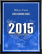 Best Horse Boarding award for 2015